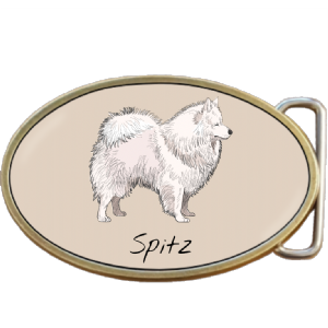 Spitz Dog Belt Buckle. Code A0069